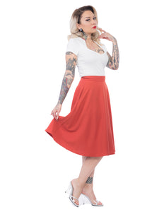 Pocket Circle Skirt in Rust