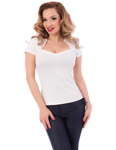 Sophia Top in Ivory
