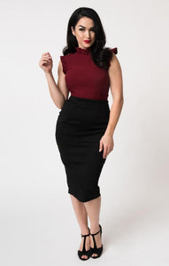 Tracy Wiggle Skirt in Black
