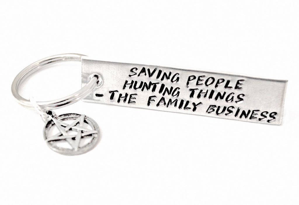 Saving People, Hunting Things, The Family Business - Supernatural Aluminum Keychain