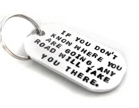 Any Road Will Take You There - Lewis Caroll Aluminum Keychain