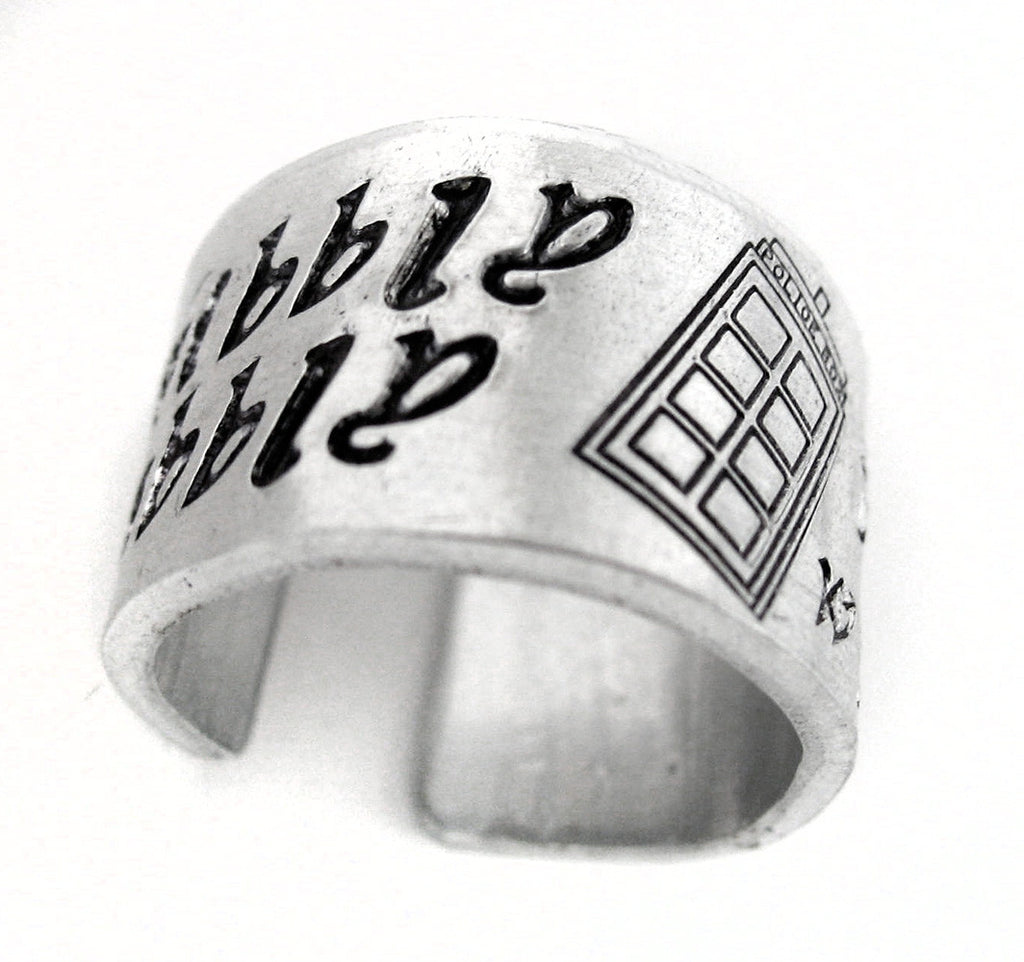 Wibbly Wobbly Timey Wimey - Doctor Who Aluminum Ring