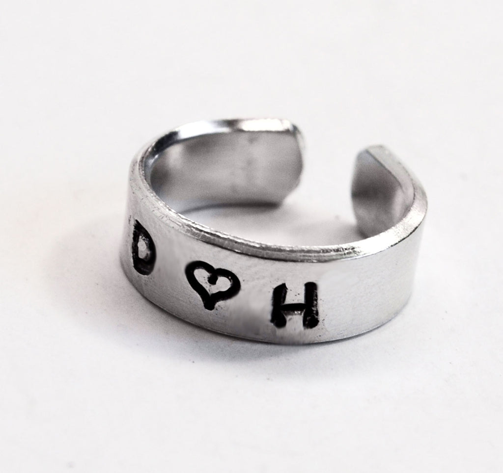 I Heart U - Customizable Aluminum Ring