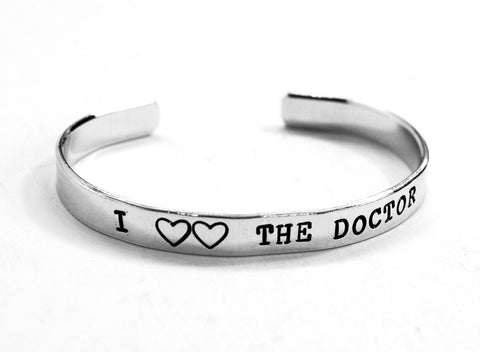 I Double-Heart the Doctor - Doctor Who Aluminum Bracelet