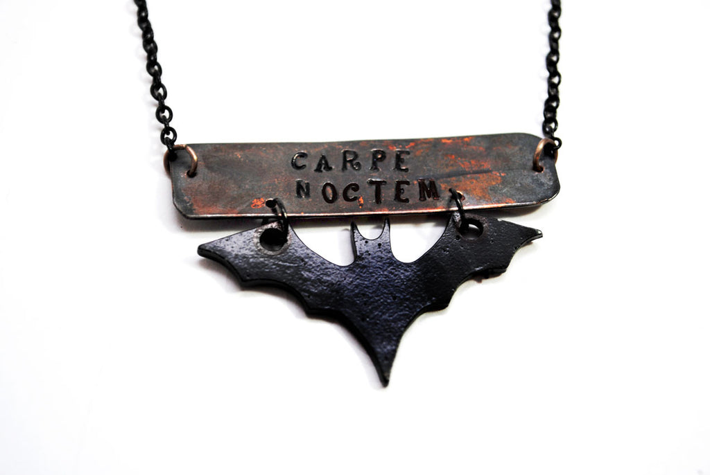 Carpe Noctem - Night Life Antiqued Copper Pendant