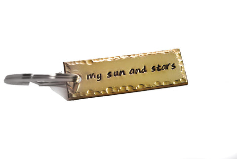 My Sun and Stars - Game of Thrones Brass Keychain