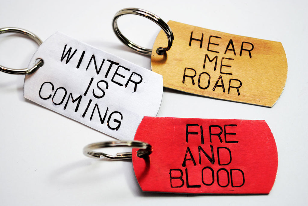 House Words - Game of Thrones Anodized Aluminum Keychains