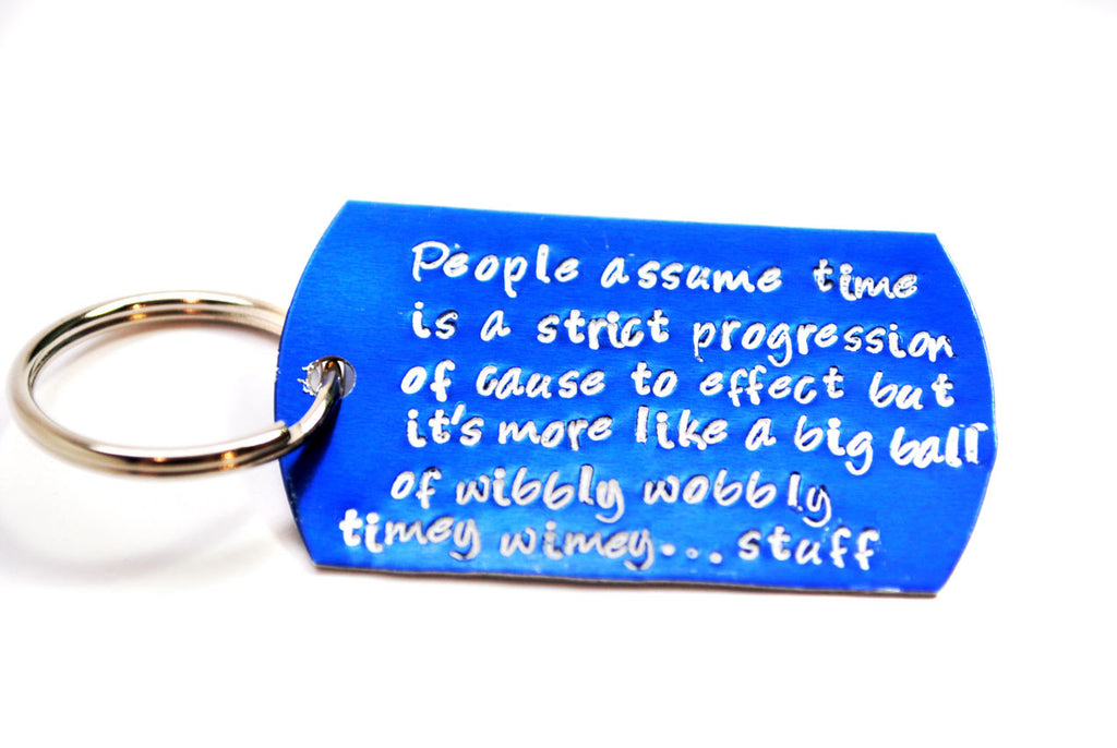 Time Progression... - Doctor Who Inspired Blue Anodized Aluminum Keychain