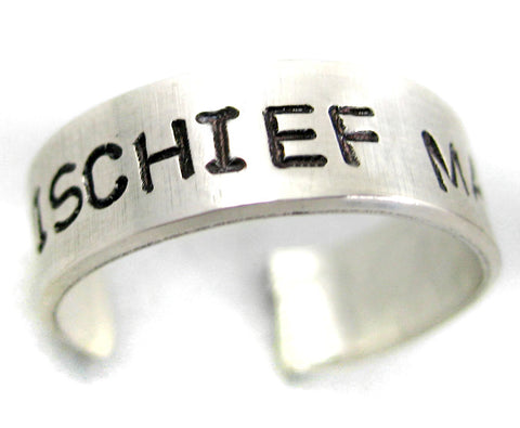 Mischief Managed - Harry Potter Sterling Silver Ring