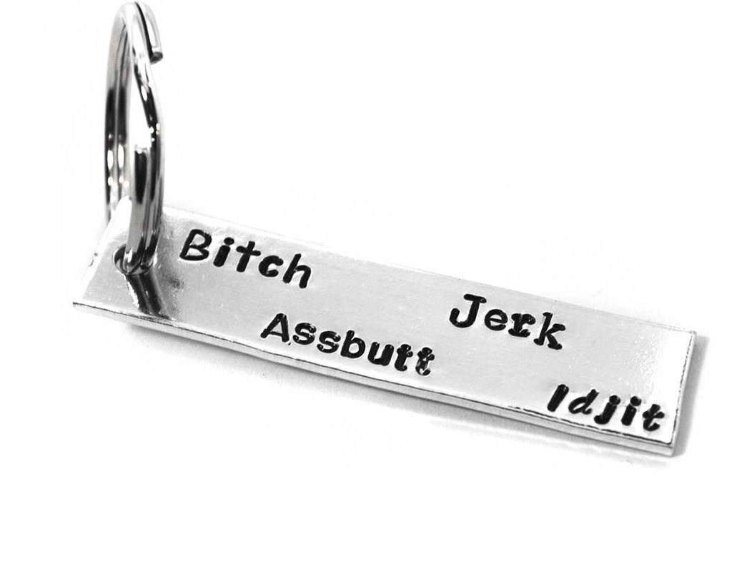 Bitch, Jerk, Assbutt…Idjit - Supernatural Inspired Aluminum Keychain