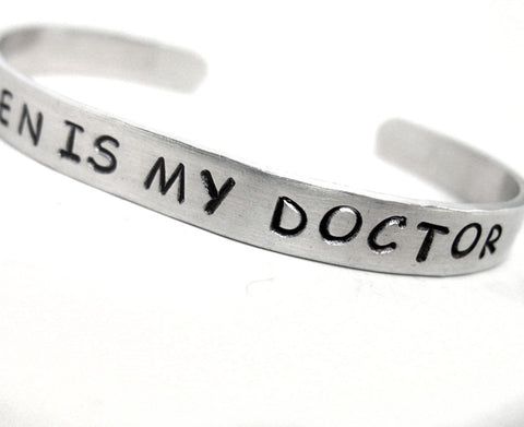 Eleven Is My Doctor - Aluminum Bracelet