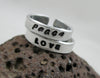 "Custom Handstamped 3/16"" Handstamped Aluminum Stacking Ring - Skinny, Adjustable Band"