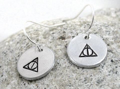 Deathly Hallows Earrings - Aluminum Earrings