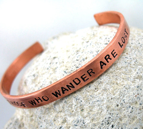 "Custom Copper 1/4"" Handstamped Bracelet - Stamped with your favorite quote or phrase!"