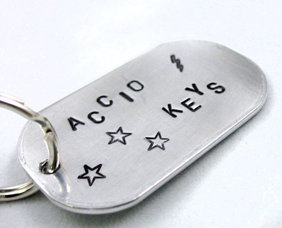 Accio Keys - Large Handstamped Keychain, Harry Potter Inspired