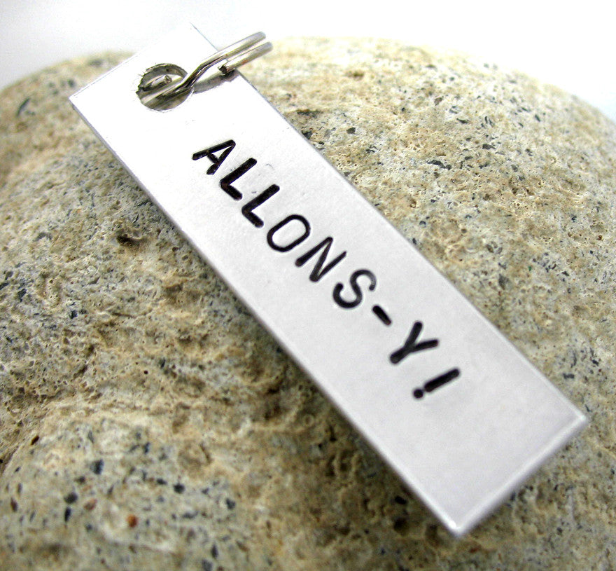 Allons-y! - Aluminum Keychain