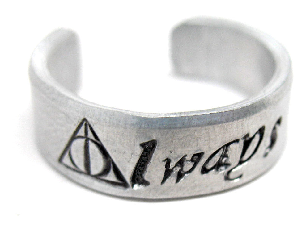Always - Aluminum Ring w/Deathly Hallows