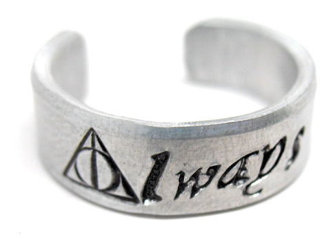 Always - Sterling Silver Ring with the Deathly Hallows Symbol, Harry Potter Inspired
