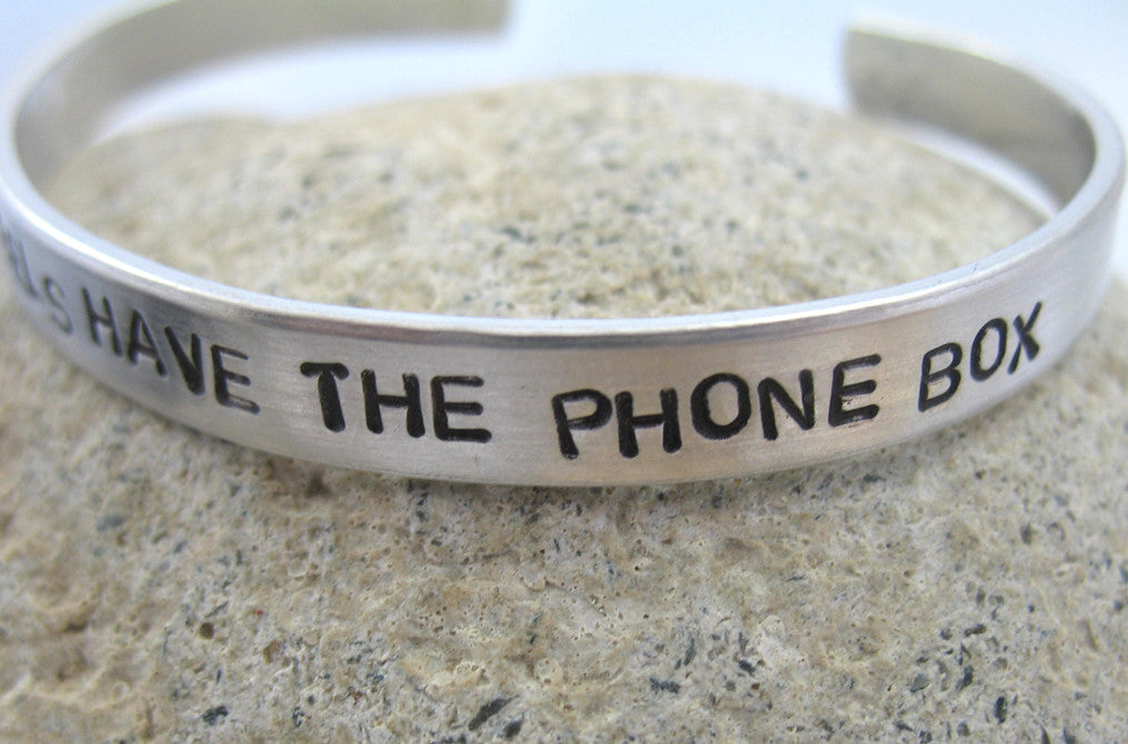 The Angels Have the Phone Box - Aluminum Bracelet