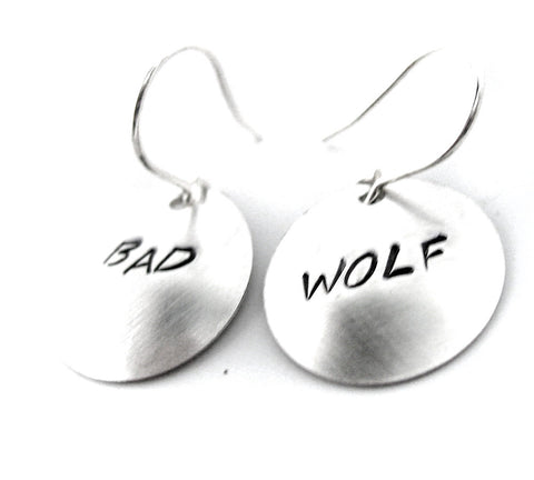 Bad Wolf - Sterling Silver Earrings
