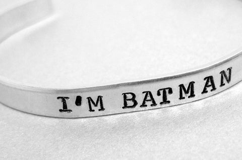 I'm Batman - Supernatural Inspired Aluminum Bracelet
