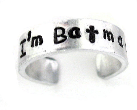 I'm Batman - Aluminum Ring