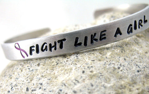 Fight Like a Girl - Aluminum Bracelet