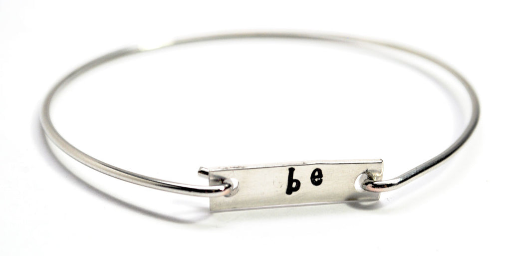 "Wrist Words - ""Be"" - Removable Tag Bracelet - Or Choose Your Word!"