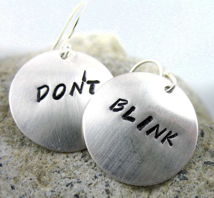 Don't Blink - Sterling Silver Earrings