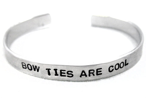 Bow Ties Are Cool - Aluminum Bracelet