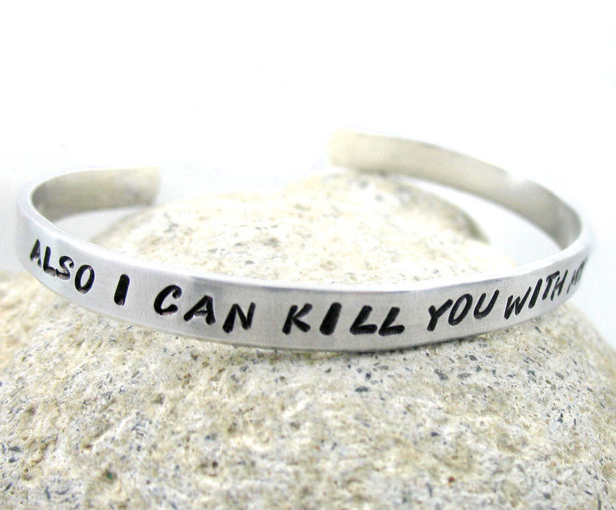 Also, I Can Kill You With My Brain - Firefly Aluminum Bracelet
