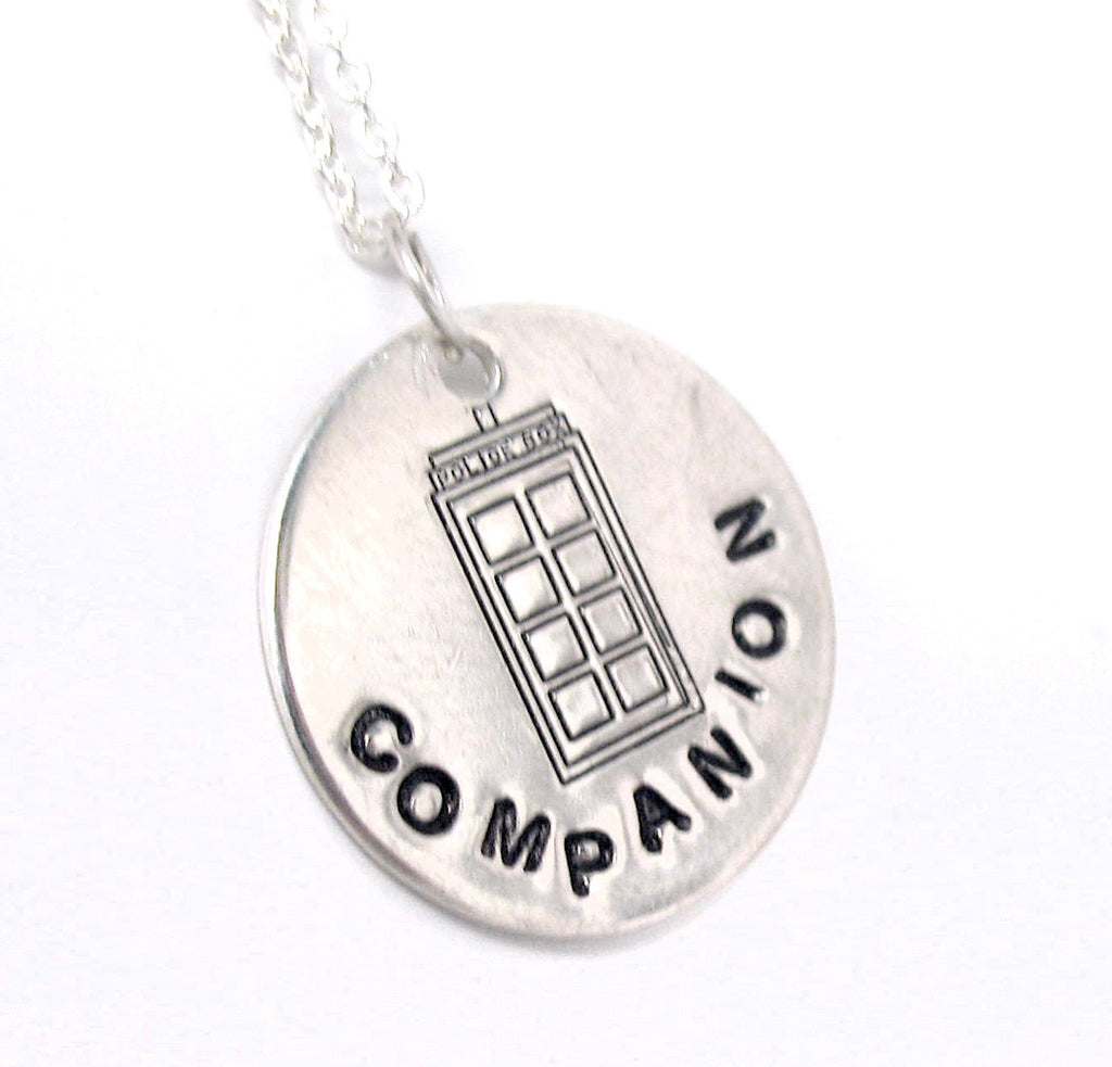 Companion - Sterling Silver Necklace w/Tardis