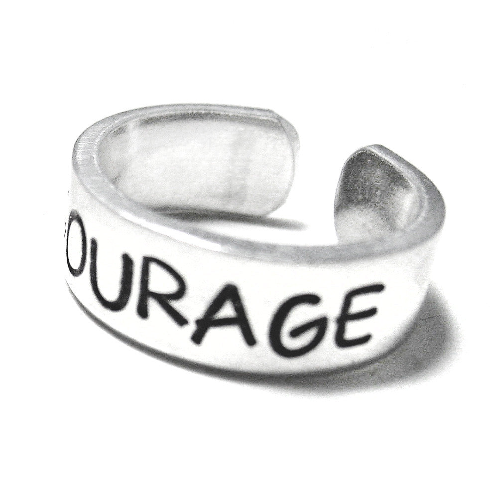 Courage - Inspirational Aluminum Ring