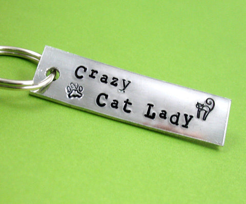 Crazy Cat Lady - Aluminum Keychain