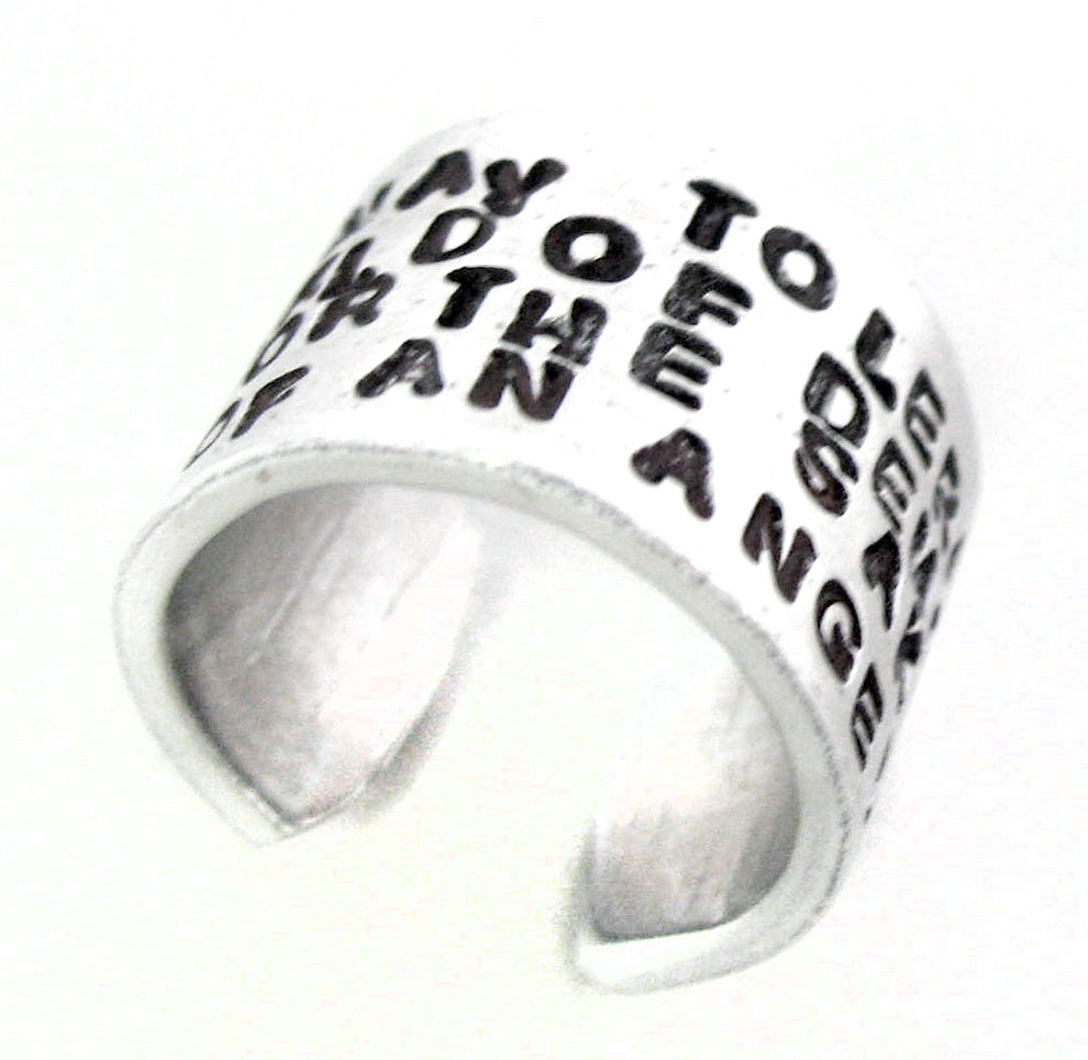 One May Tolerate a World of Demons for the Sake of an Angel - Aluminum Ring