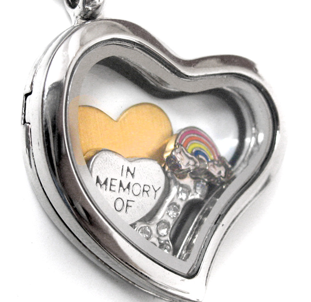 Pet Memorial Jewelry - Stainless Steel Floating Locket
