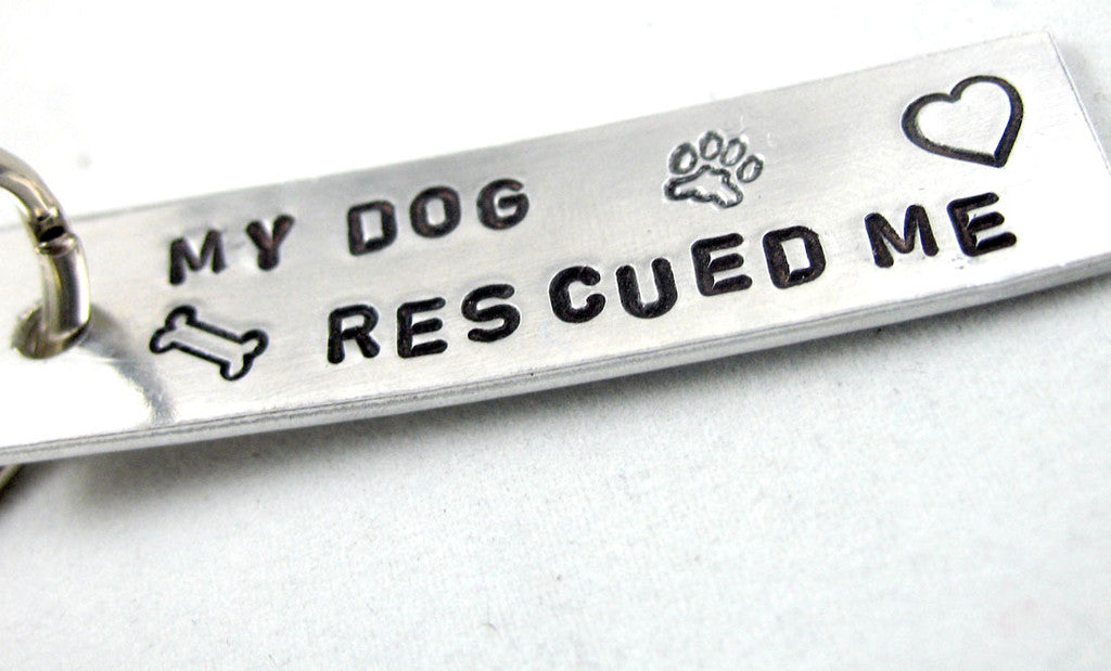 My Dog Rescued Me - Aluminum Keychain