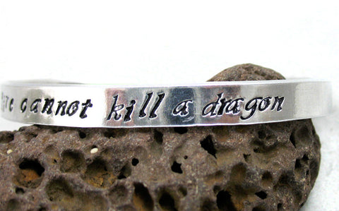 Fire Cannot Kill a Dragon - Aluminum Bracelet