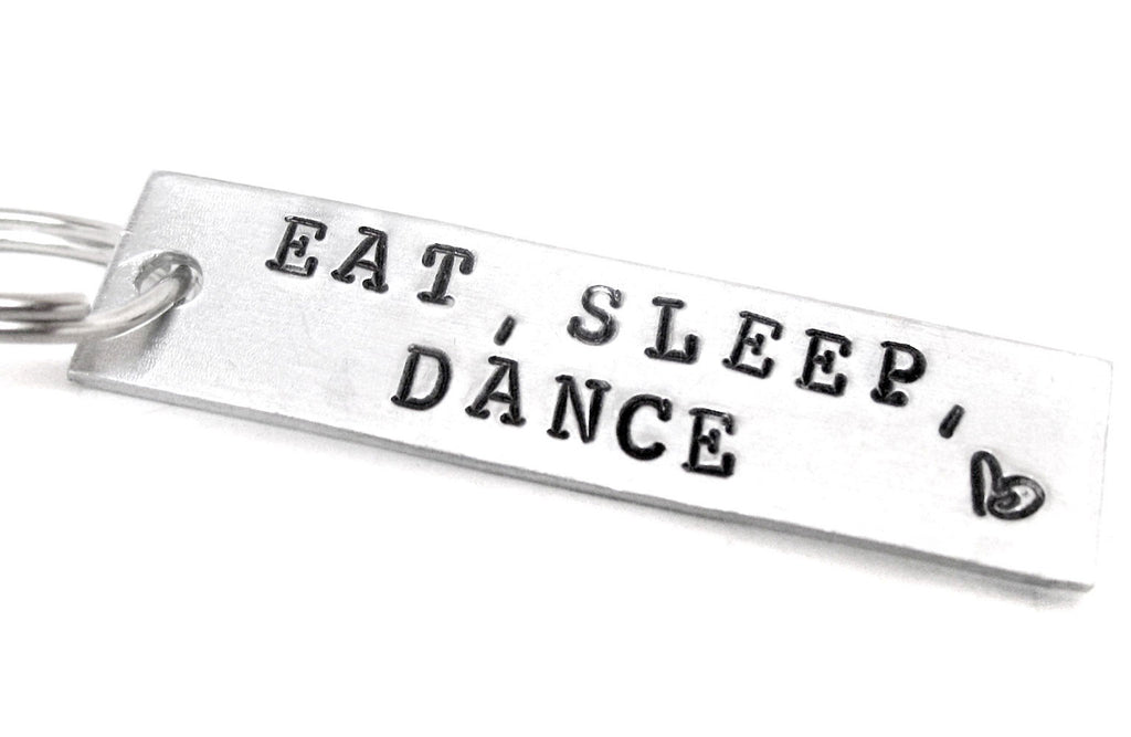 Eat, Sleep, Dance - Aluminum Keychain