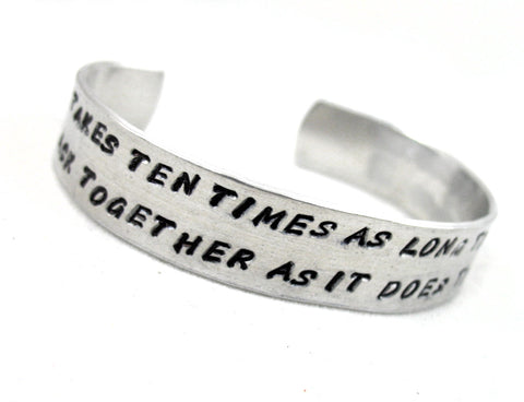 Hunger Games Reconstruction Quote - Aluminum Cuff