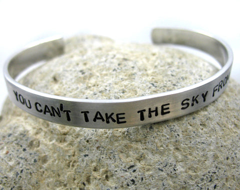 You Can't Take the Sky From Me - Aluminum Bracelet