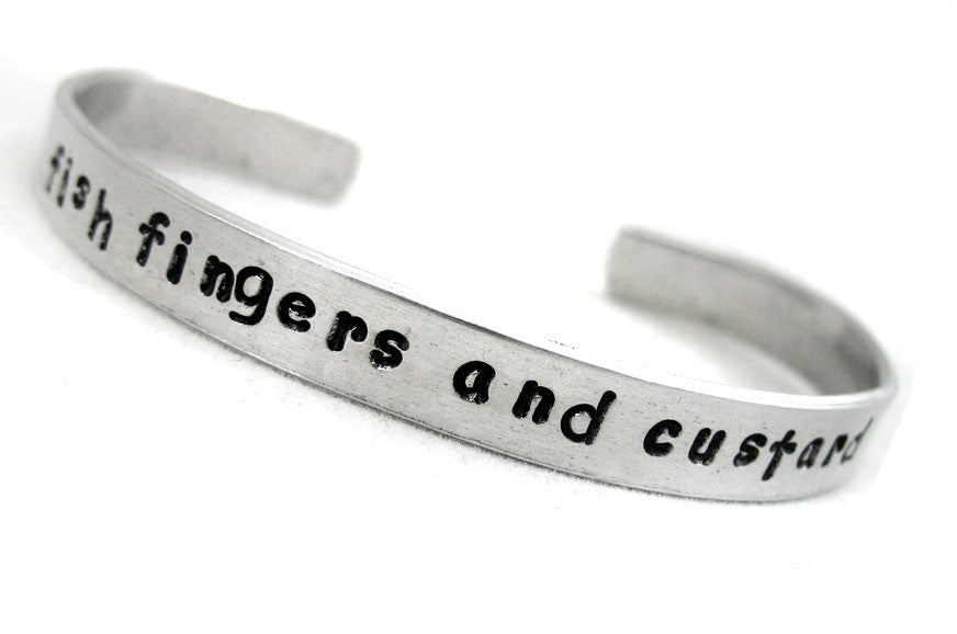 Fish Fingers and Custard - Aluminum Bracelet