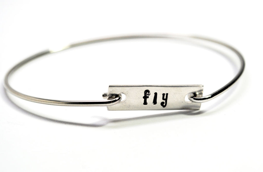 "Wrist Words - ""Fly"" - Removable Tag Bracelet - Or Choose Your Word!"