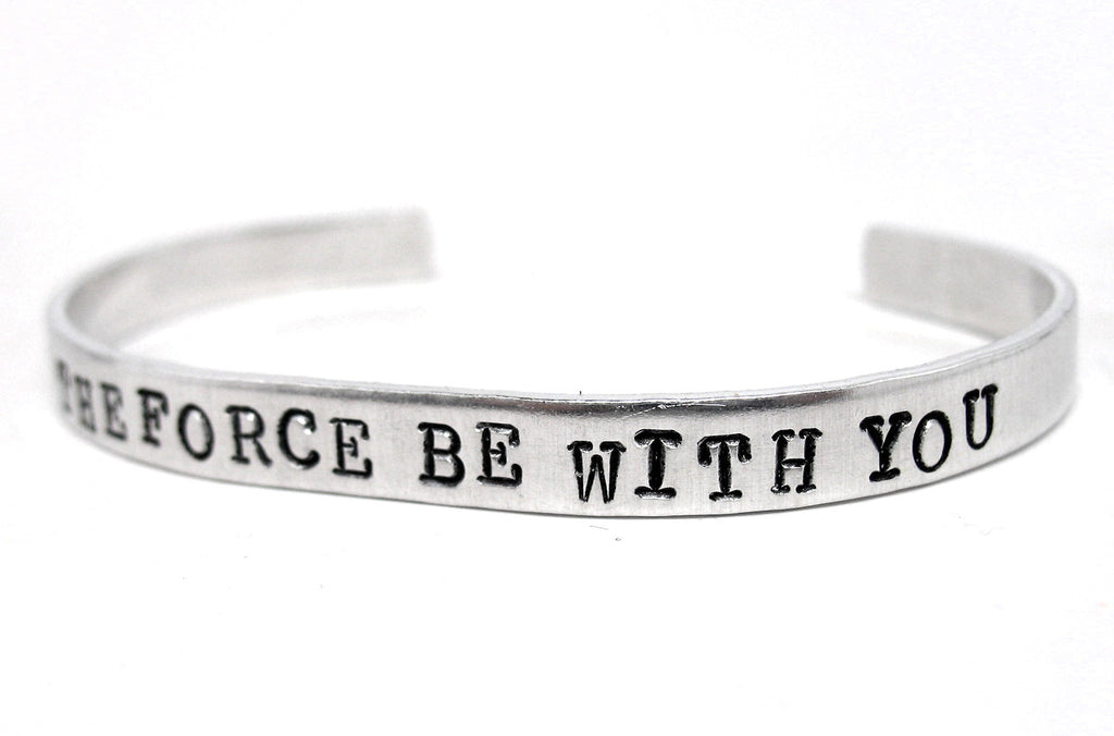 May the Force Be With You - Aluminum Bracelet