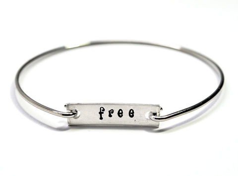 "Wrist Words - ""Free"" - Removable Tag Bracelet - Or Choose Your Word!"