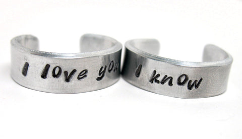 Leia/Han I Love You/?I Know? - Aluminum Rings