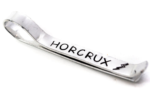 Horcrux - Handmade Hand Stamped Aluminum Tie Bar - Harry Potter Inspired - Perfect for Father's Day!