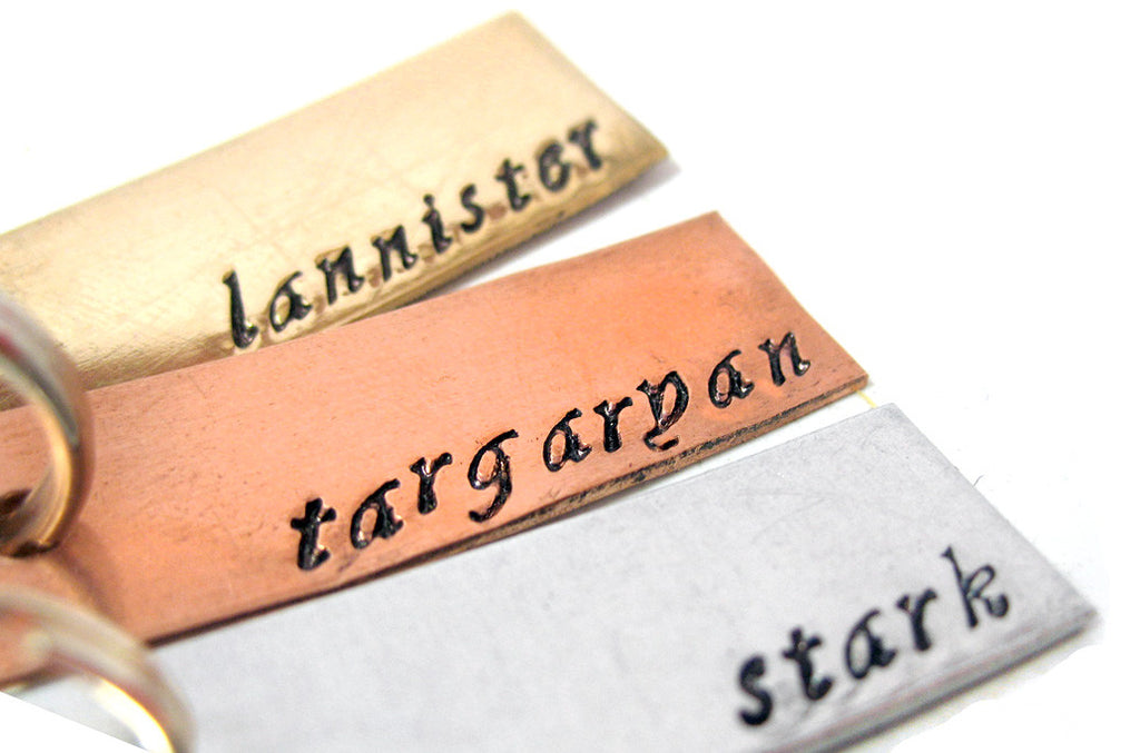 Great Houses Set - Game of Thrones Keychains