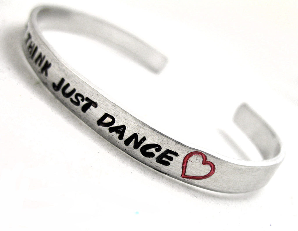"Customizable Aluminum Bracelet - Handstamped 1/4"" Cuff, Personalized Just for You"