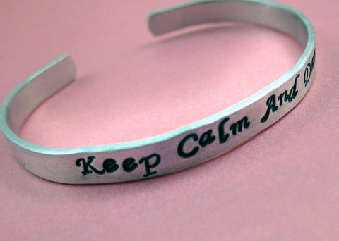 Keep Calm and Dance - Aluminum Bracelet